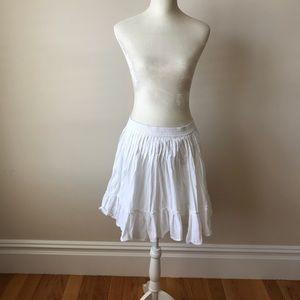 Gap white peasant skirt